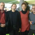 KTV Künstlerbörse 2012 KKThun vlnr: Dr Glood, me, Renata Stavakakis, Marco Zappa