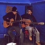 Rathausplatz Dezember 2001 mit Luke Tschanz